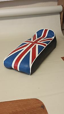Scomadi / Royal Alloy Seat Cover Custom Made Union Jack