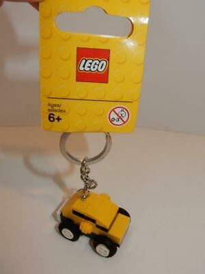 LEGO Key Chain YELLOW CAR :  Made In Denmark - VIP RED MINIFIGURES