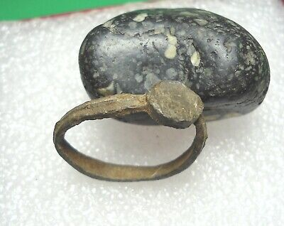 Ancient Roman Bronze Ring Original Authentic Antique Rare R709