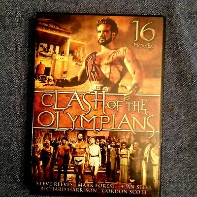 "'Clash of The Olympians"" 16 movies Starring Steve Reeves, Gordon Scott   DVD"