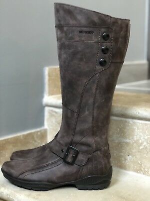 0fb7add520a BOTTES EN CUIR Marron Fauve 39 Style Seventies- Brown Leather Boots ...