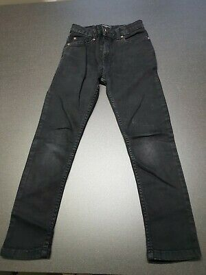 River Island Boys Skinny Fit Black Jeans Size 7