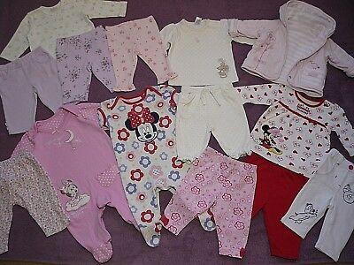 Baby Girls Bundle of Clothes Minnie Mouse & NEXT 2pc Outfits Reversible Coat 0-3