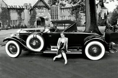 1927 Rich Estate Classic Car Flapper Girl Pinup 12X18 Photo Poster New York City