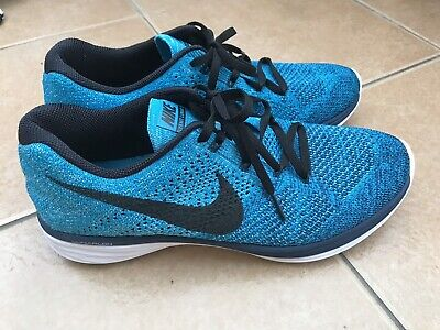 best service b721b f49c6 Nike Flyknit Lunar 3 Turquoise Blue Lagoon Running Trainers Sz 9 Immaculate  Cond