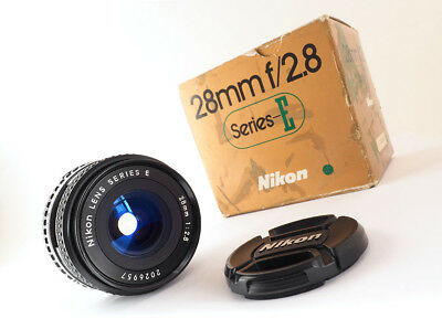 Nikon 28Mm F2.8 Series E Mark Ii - 1982 - Excellent Example In Box!