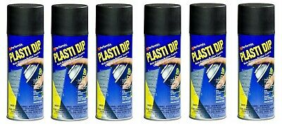 (6) Plasti Dip Black Matte Liquid Wrap Removable Rubber Coating Aerosol Can