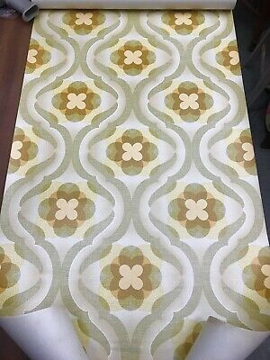 Vintage 60s 70s Psychedelic Wallpaper Roll Flower Power Mid Century House German