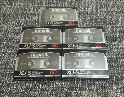 5 Maxell XLI-S 60 Super Fine Epitaxial Cassette Tapes New See Details