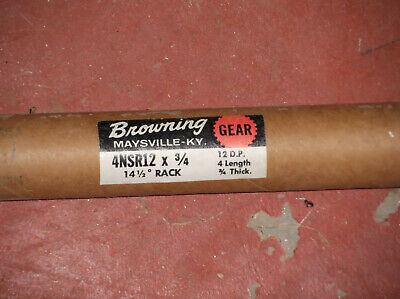 "NEW, Browning 4NSR12 X 3/4"" GEAR RACK, 12 pitch; 4 ft.; 14.5 degree 3/4 in. .75"