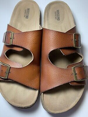 95305e29bc68 Womens Mossimo Sandals Size 10 Birkenstock Footbed Inspired EUC Flat Vegan  4499
