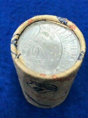 2000 Millennium Year 50 cent  uncirculated coin roll 'BRINKS'  H/T