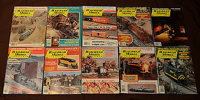 MODEL RAILROAD CRAFTSMAN Train MAGAZINE Total LOT of 10 ISSUES from 1979