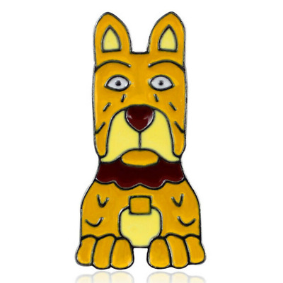 *Unofficial* ISLE OF DOGS 'REX' enamel pin badge quirky retro cute Wes Anderson