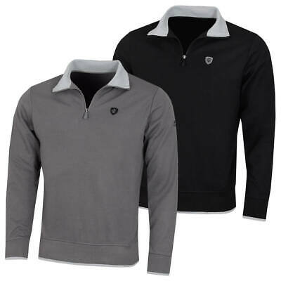 Island Green Mens Golf Half Zip Bonded Knit Windshirt 68% OFF RRP