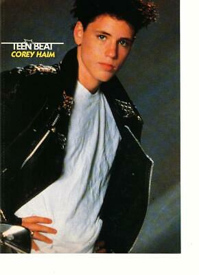 05742aed609 Corey Haim Kirk Cameron teen magazine pinup clipping 80 s mirror side Tiger  Beat