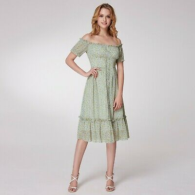 b3c8d8d3c6bef Alisa Pan Summer Party Dress Off Shoulder Knee Length A Line Casual Dress  05958