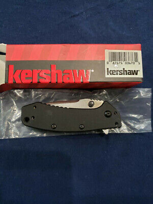 Kershaw 1555G10 Black G-10 Cryo Straight Assisted Folding Folder Pocket Knife