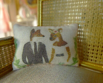 Dollhouse Miniature Pillow Cushion 1/12 Scale Disguised Animal Couples