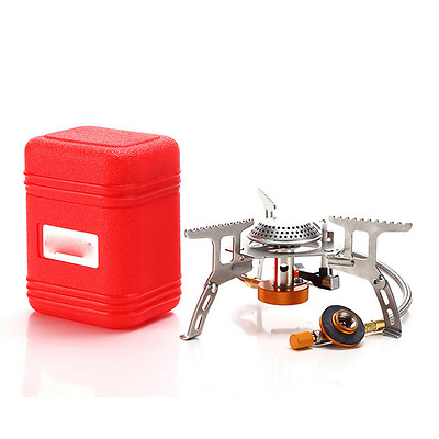 3500W Portable Outdoor Picnic Gas Burner Foldable Camping Mini Steel Stove +Case