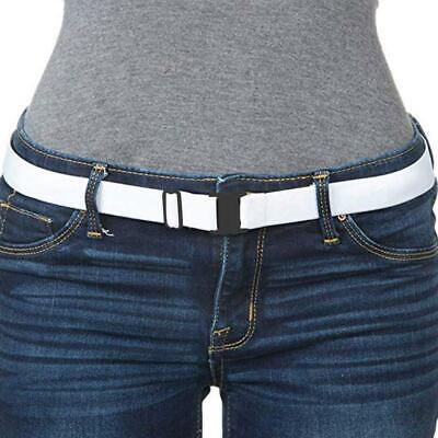 Invisible Buckle-Free Elastic Waist Belt Stretchy Women Men Waistband Unisex