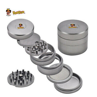 63MM Original Aircraft Aluminum Tobacco Herb Grinder with Removable Teeth Screen
