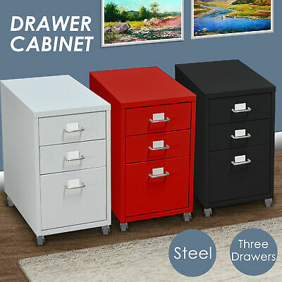 Steel Orgainer Metal File Cabinet With 3 Drawers Office Furniture AU Stock