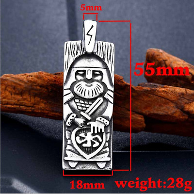 5pcs Mens Womens Jewelry Norse Viking Amulet 316L Stainless Steel Pendant LP166