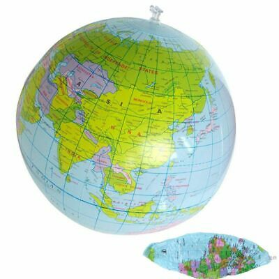 40cm Inflatable Globe Atlas World Map Earth Beach Ball Geography Blow Up Toys