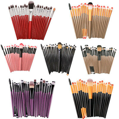 20PCS/Set Makeup Brushes Set Foundation Powder Eyeshadow Eyeliner Lip Brush Tool