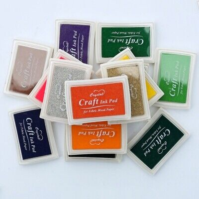 15 Colors Large Rubber Stamps Craft Ink Pad Pigment For Paper Wood Fabric-Crafts