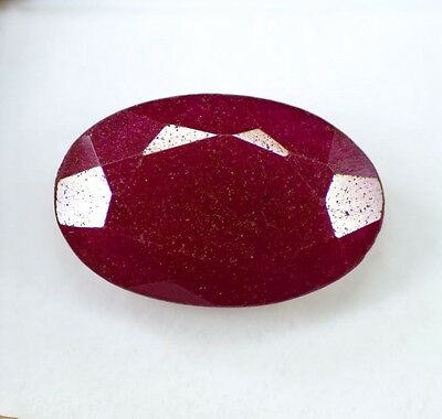 Natural 25.70 Ct Certified  Real Corundum African Red Ruby Gemstone DD1675