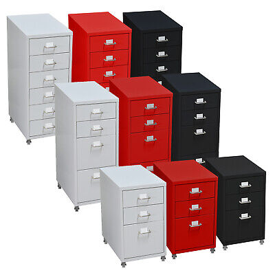3/4/6 tiers Steel Orgainer Metal File Cabinet With Drawers Office Furniture AU