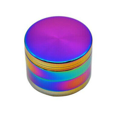 Rainbow Zinc Alloy 4 Layers 40mm Tobacco Herb Grinder w/ Scraper Smoking