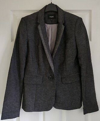 Ladies / Womens Next - Size 8L Smart Dark Silver Grey Blazer Jacket