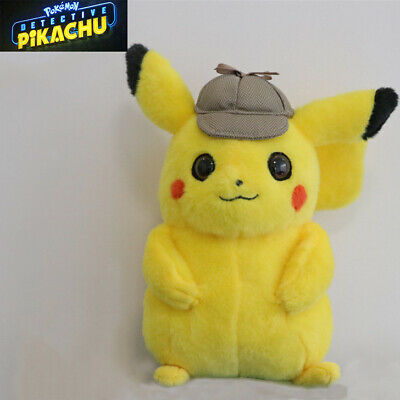 Pokemon Detective Pikachu  Kids Girls Soft Plush Toy Doll Teddy Kids Gift New