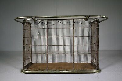 19th Century Antique Brass Fire Guard with Nappy Rail