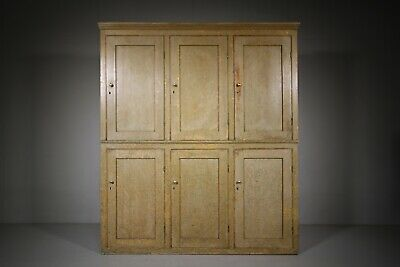 Fabulous Original Painted Pine Antique Housekeepers Cupboard