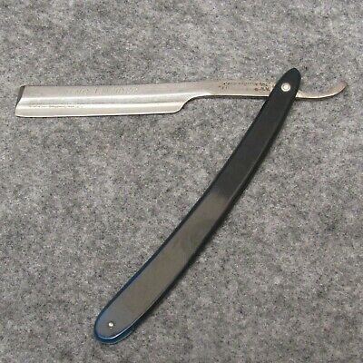 """Case Brothers Little Valley NY 5-7/8"""" Straight Razor Ring Leader Blue Celluloid"""