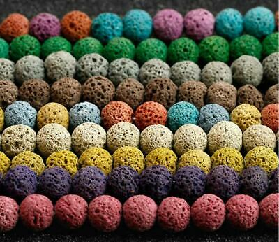 Multicolor Optional Colourful Lava Beads Volcanic Rock Natural Stone Beads
