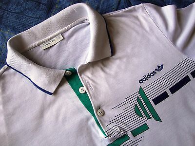 POLO-T-shirt  vintage 80's ADIDAS made in West Germany   tg.M Rare