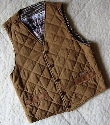 VEST gilet  vintage 80's ELLESSE country wear  tg. 48- M circa  made Italy