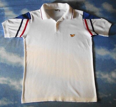 POLO T-SHIRT vintage 70's POP 84  TG.L  slim circa S/M  made in Italy  RARE