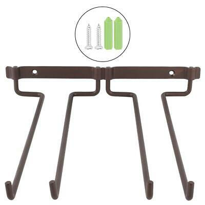 Hanging Metal Wine Cup Rack Bar Double Stemware Rack Screws with Cover  Sturdy