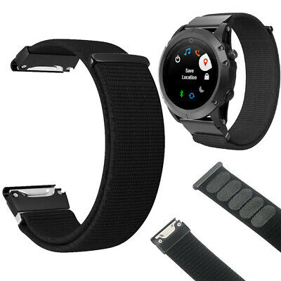 22mm Replacement Soft Nylon Sport Loop WristBand Strap For Garmin Fenix 5/5 Plus