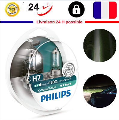 2 Ampoule Philips Racing Vision H7 Phare Nuit Paire Led Voiture Neuf 130 %