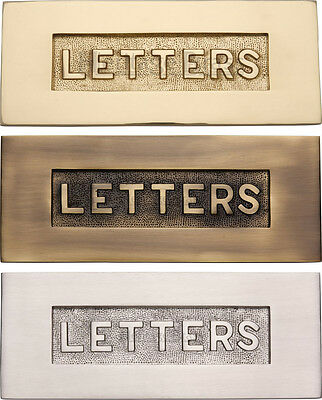 Traditional Letter Plate / Letter Box with Embossing - Various Finishes