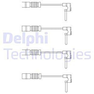 Brake Pad Wear Warning Contact Set DELPHI Fits MERCEDES PUCH 190 T1 6015401317