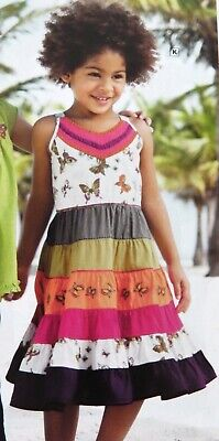 Bnwt Girls Next Boho Butterfly Summer Dress 3-4 Yrs New Holiday Party Sun Pink