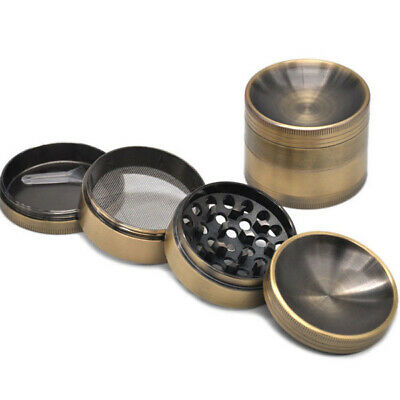 1 X Multi Function 4 Parts 56 Zinc Alloy Herb Crusher Tobacco Concave Grinder